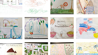 Children's drawings as part of a contest