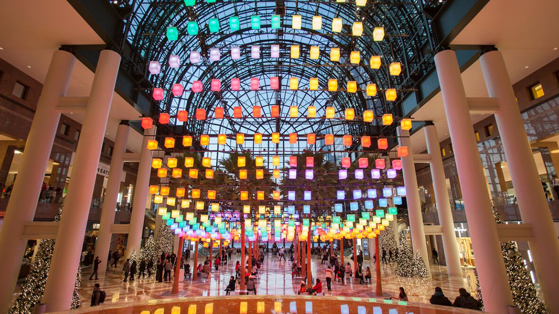 Light installation in the Winter Garden