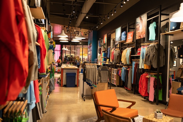 Inside Cotopaxi store