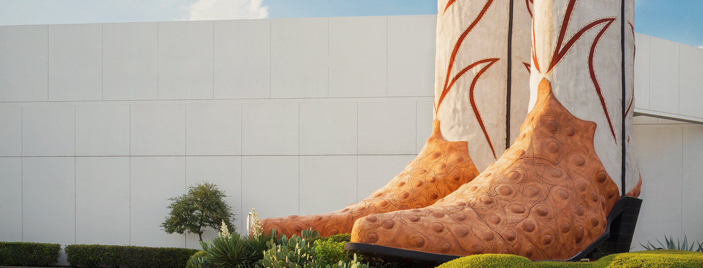large pair of boots statue