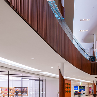 interior of mall 2 levels