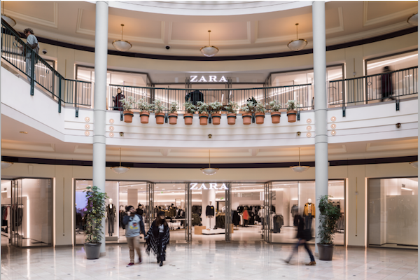 Zara Storefront at Pioneer Place