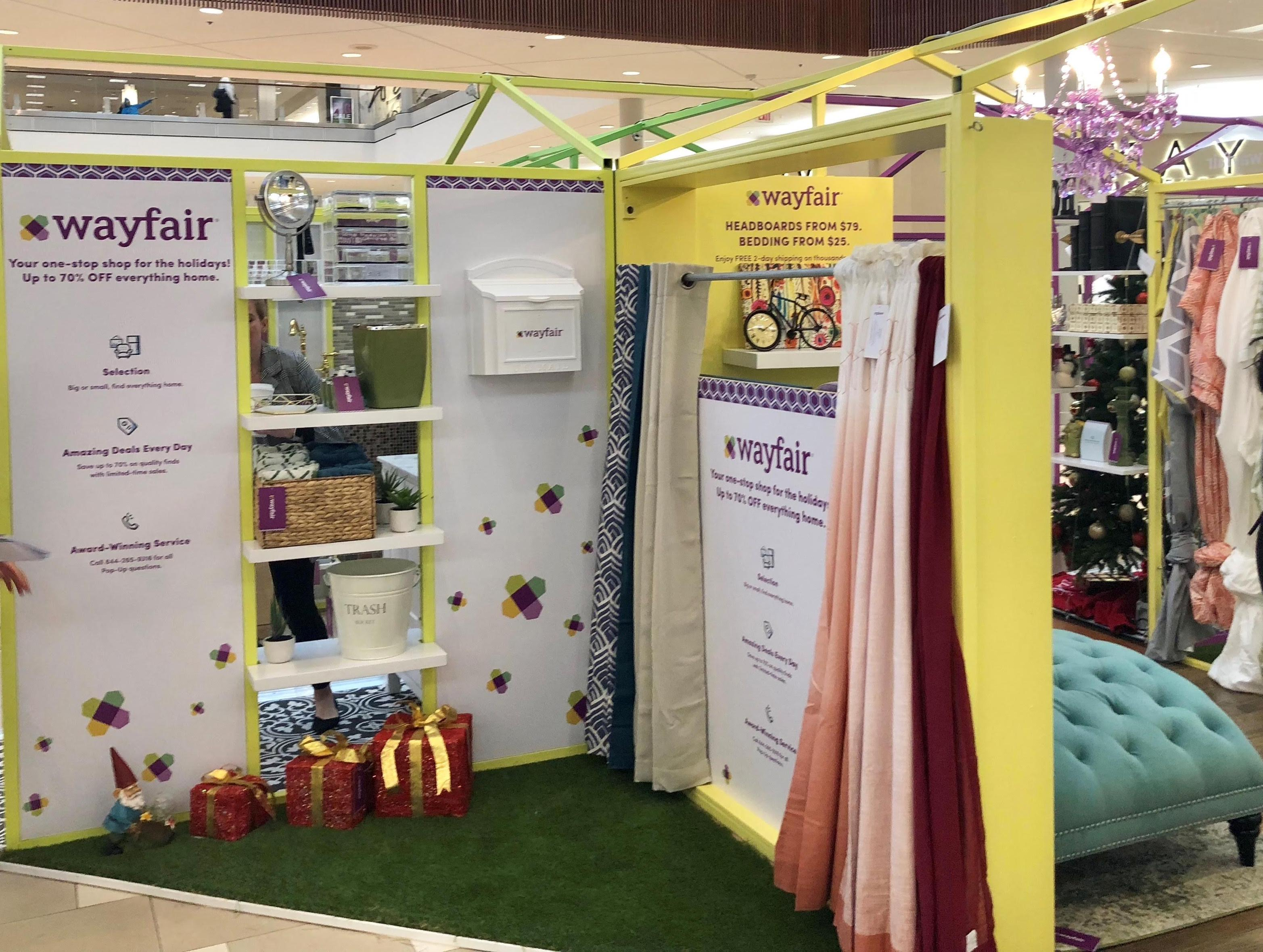 Wayfair pop-up at Natick Mall